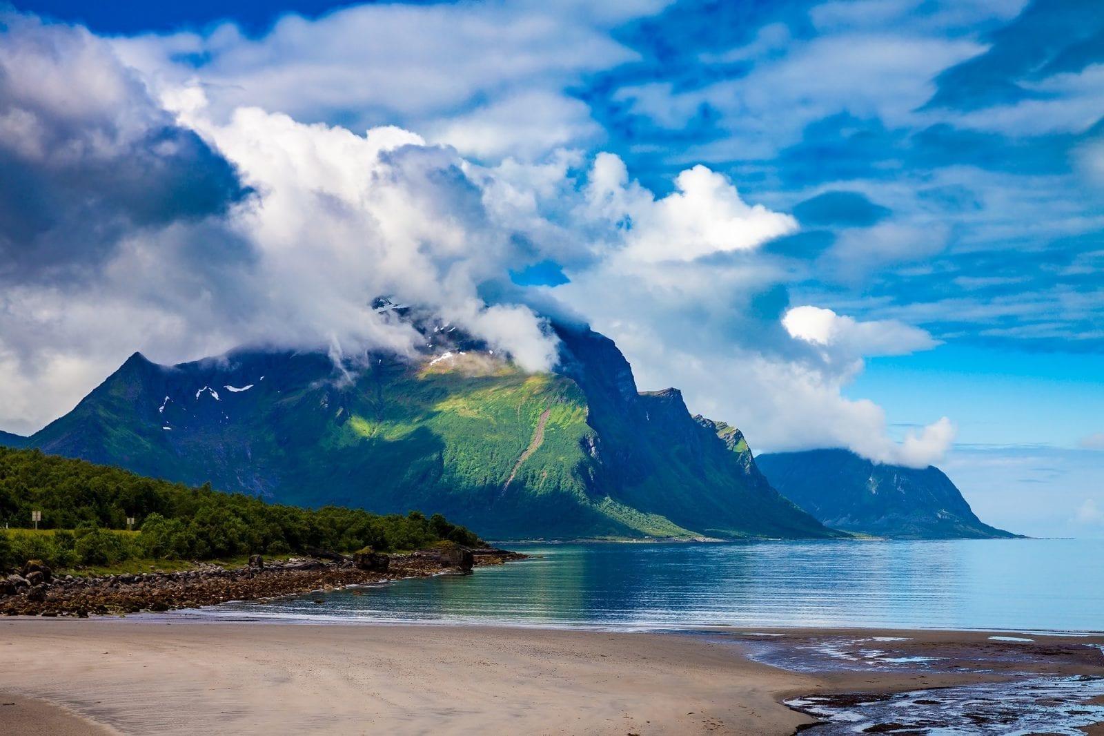 Mountain and Sea landscape
